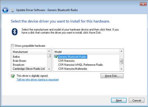 bluetooth microsoft драйвер: